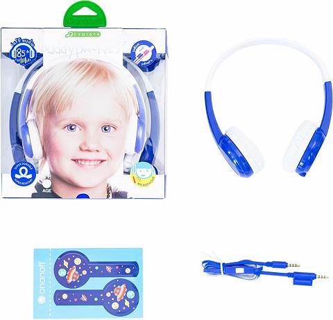 BUDDYPHONES? ? Vaikiškos ausinės »Explore blau«