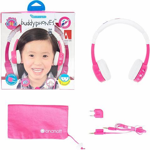 BUDDYPHONES? ? Vaikiškos ausinės »Inflight pink«