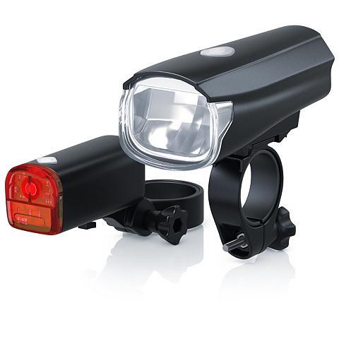 LED Fahrradlampen-Set su priekis & Rüc...