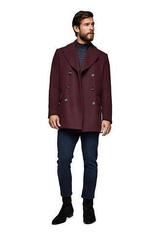 Zweireihiger paltas iš Woll-Mix