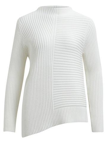 Asimetriško kirpimo megztinis