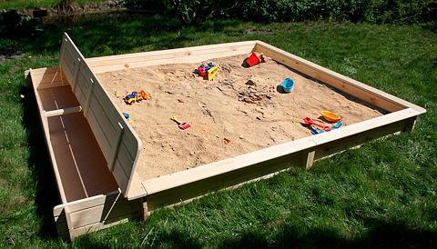 PROMADINO Smėlio dėžė »Yanick« BxL: 225x248 cm