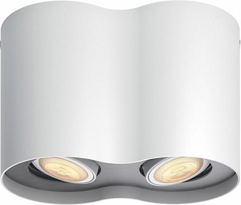 PHILIPS HUE LED šviestuvas Pillar Weiß 2flg. ir Dū...
