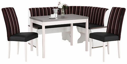 HOME AFFAIRE Kampinis virtuvės suolas su kėdėmis »D...