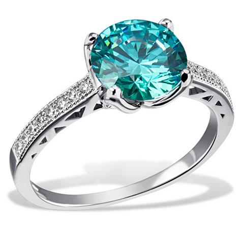Moteriškas žiedas 925/- Silber 20 Zirk...