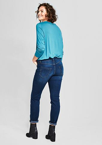 TRIANGLE Curvy firma: Dunkle Stretchjeans