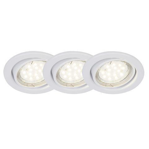 BRILLIANT LEUCHTEN Classic LED Einbauleuchtenset: 3 viene...