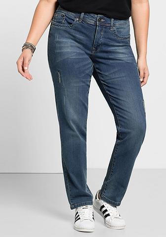 Sheego Stretch-Jeans su Used- ir Destroyed-Ef...