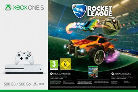 XBOX ONE S 500GB - Rocket League Bundle (DLC) 4...