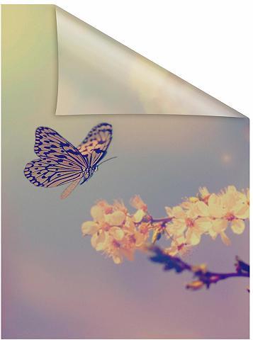 LICHTBLICK ORIGINAL Fensterfolie »Schmetterling Blüte« bli...