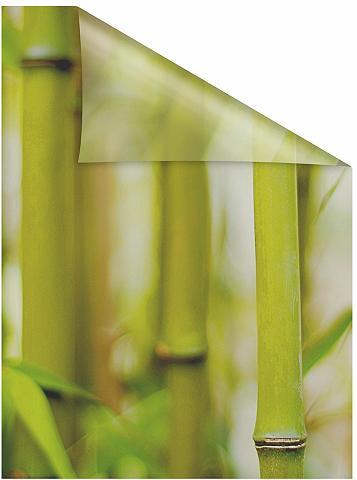 LICHTBLICK ORIGINAL Fensterfolie »Bambus« blickdicht struk...