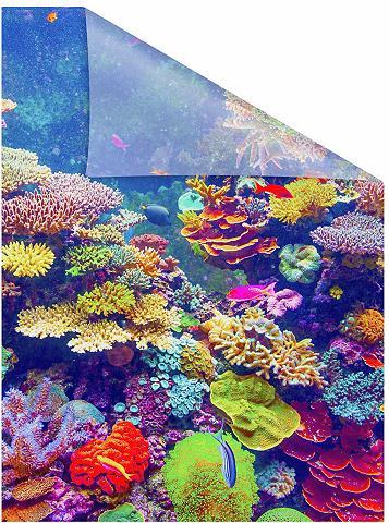 LICHTBLICK ORIGINAL Fensterfolie »Aquarium« blickdicht str...