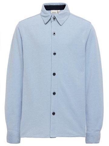 NAME IT Ilgomis rankovėmis trikotažas Marškini...