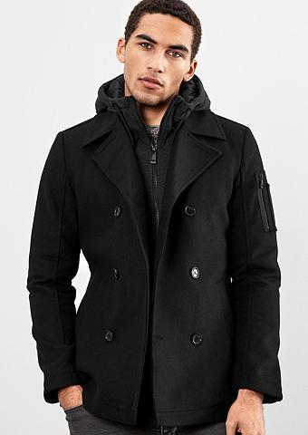Kurzer paltas im 2-in-1-Look