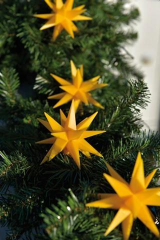 Kunststoff-Sternenkette su 9 Sternen 1...