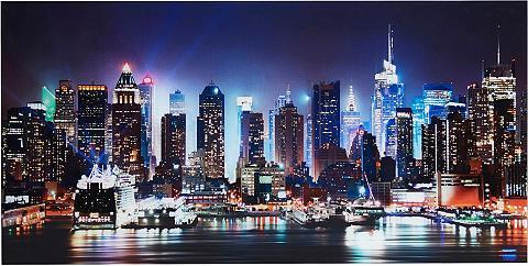 Places of Style Stiklinis paveikslas »New York City-Ti...