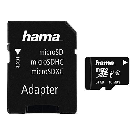 HAMA Micro SDXC 64GB Class 10 UHS-I 80MB/s ...