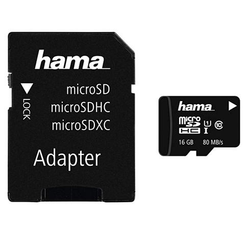 HAMA Micro SDHC 16GB Class 10 UHS-I 80MB/s ...