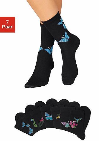 H.I.S Socken (7-Paar) su Schmetterlings- ir ...