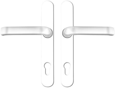 Durų rankenų komplektas metalas sidabr...
