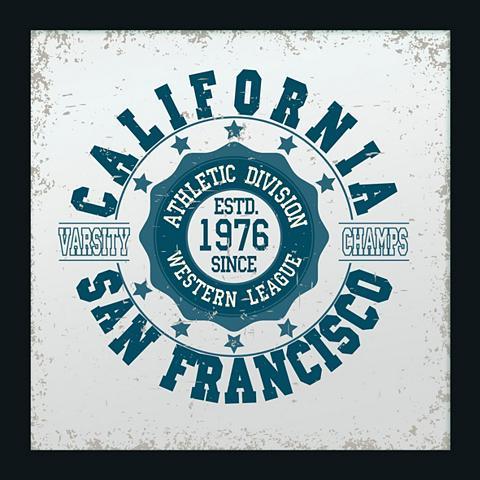 Paveikslas-veidrodis gerahmt »San Fran...