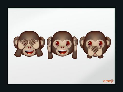 Paveikslas-veidrodis gerahmt »emoji - ...