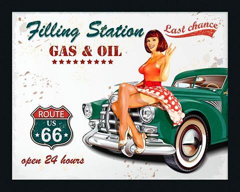 Paveikslas-veidrodis gerahmt »Gasoline...