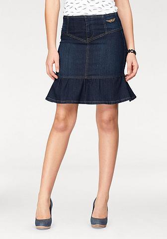 ARIZONA Džinsinis sijonas »mit Volant-Saum«
