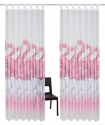 Užuolaida »Flamingo« su Schlaufen (2 v...