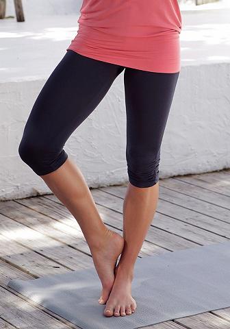 LASCANA Yoga Kapri kelnės tamprės su paraukima...