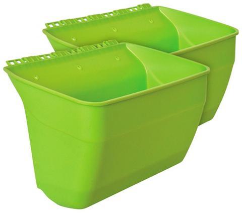 Vazonas »Naturtalent« 2 Stk. grün Bx T...