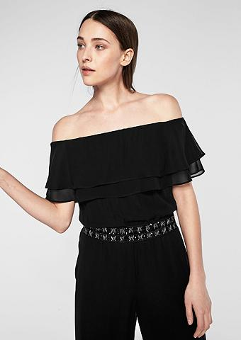 Off Shoulder-Jumpsuit su Rüsche