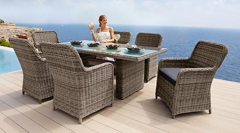Sodo baldų komplektas »Korsika« 13-tlg...