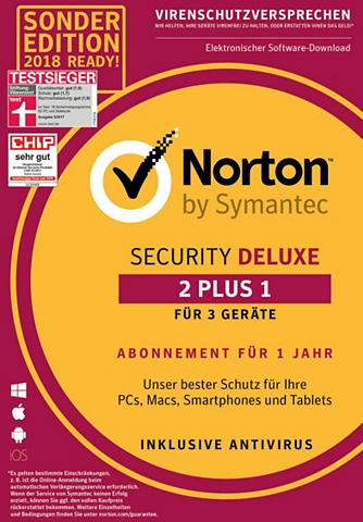 NORTON Security Deluxe Software 2 plus 1 dėl ...