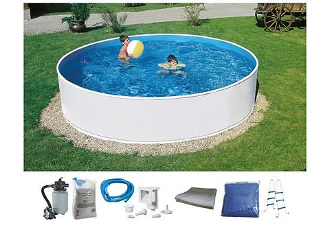 MYPOOL Rinkinys: apvalus baseinas 7-tlg. ØxH:...