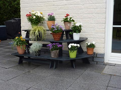 PROMADINO Gėlių lentynos »Anja« su kampinis elem...
