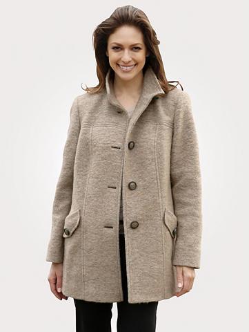 MONA Vilnonis paltas in kuklus gewalkter Wa...
