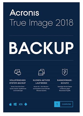 ACRONIS True Image 2018 »Mac Windows i OS Andr...