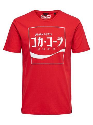 ONLY & SONS raštas Marškinėliai