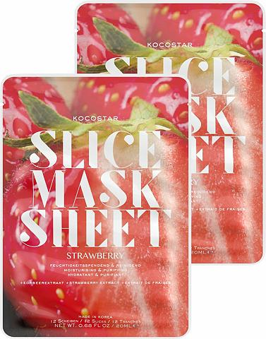 KOCOSTAR »Slice Mask Sheet Strawberry« feuchtig...