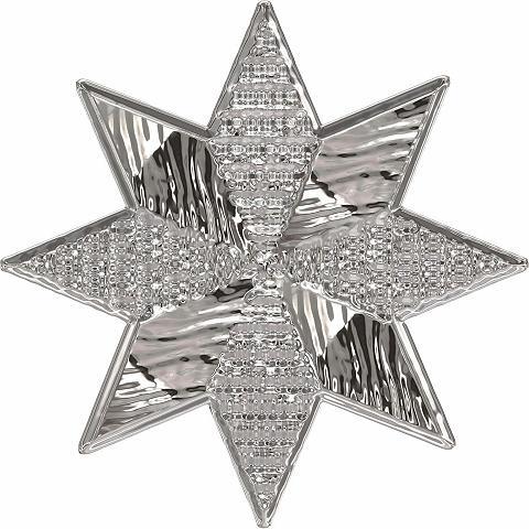 Sienos lipdukai »Metallic Star Silver«...