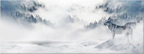 Paveikslas »Wölfe im Schnee - Panorama...
