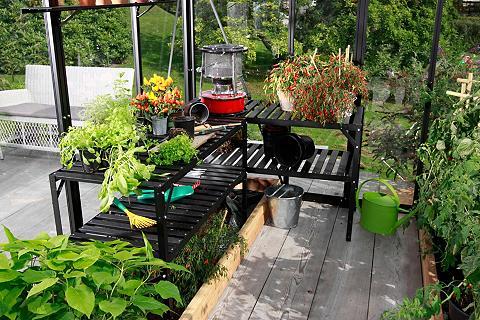 VITAVIA Stalas augalams juoda spalva Bx Tx H: ...