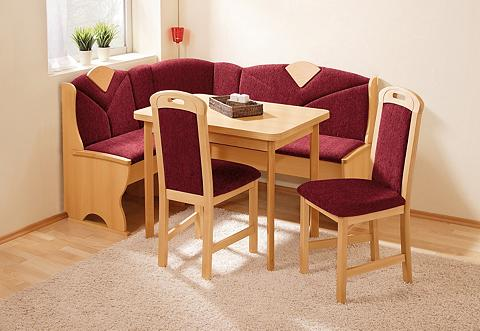 Kampinis virtuvės suolas su kėdėmis (S...