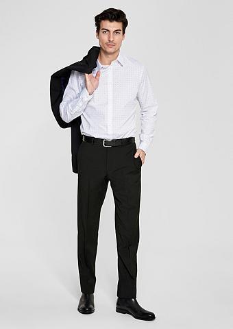 S.OLIVER BLACK LABEL Regular: Kostiuminės kelnės su vilnonė...