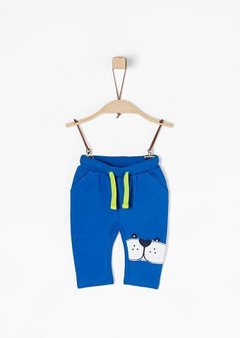 S.OLIVER RED LABEL JUNIOR Sportinio stiliaus kelnės su aplikacij...