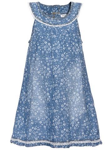 NAME IT Nitabava berankovė džinsinė suknelė