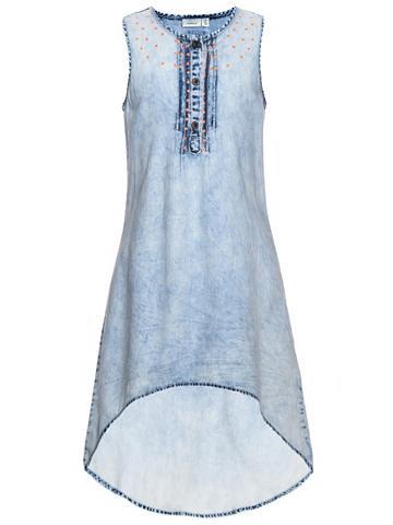 NAME IT Nitbaya Ilga džinsinė suknelė