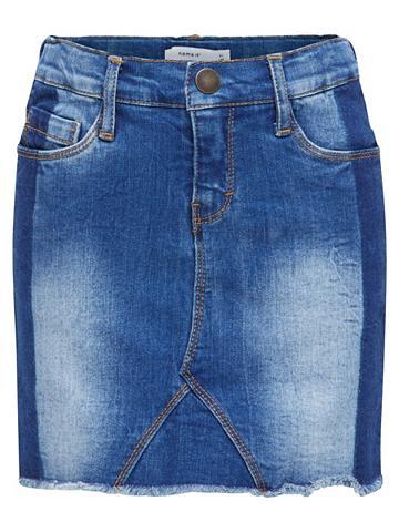 NAME IT Super-Stretch Džinsinis sijonas