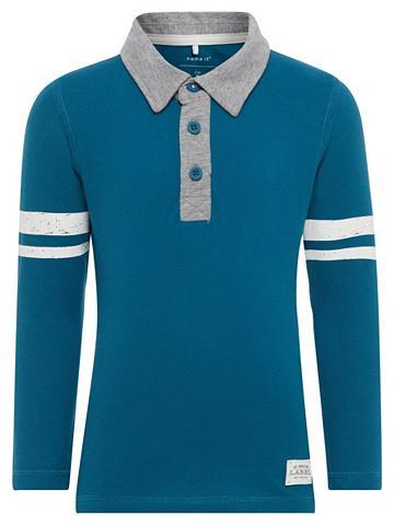 NAME IT Ilgomis rankovėmis Polo marškinėliai